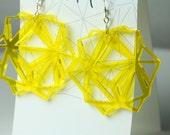 Lasercut Modular Origami Inspired Earrings, acrylic, laser cut, contemporary, modern, dangle, modular origami, custom gift, modern, plastic