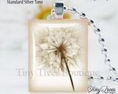 SALE- Recycled Scrabble Tile Pendant- Beautiful Dandelion