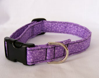 Delicate Purple Flowers Dog Pet Cat Adjustable Collar Custom made really cute