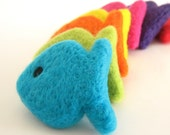 Needle Felted 7 Wool Fish - Waldorf - Home Decor - Toy -Play