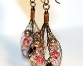 Tisket Tasket Copper Basket Earrings