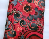 Handcrafted Sony  PRS 505/600 Touch/700 or PRS300 eReader device cover 'Asian-styled Red Flowers'