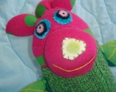 Keira - Green and Pink Sock Lassie