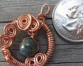 Spiral Copper Earth Pendant