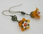 Spring Arrives Orange Lily Earrings
