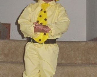 man in yellow hat costume from curious george