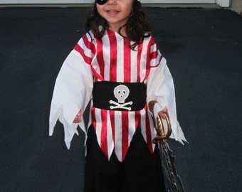 Cute lil Pirate costume with eye patch and sowrd