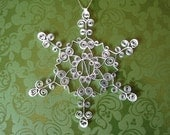 Custom Monogram N personalized ornament quilled snowflake ornament gift packaged holiday decoration christmas ornament