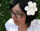 white gardenia hair clip