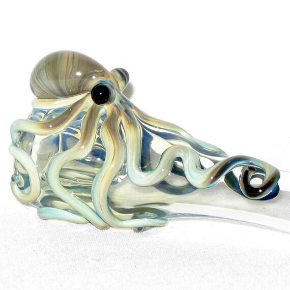 The Original Octopus  Hand Blown Glass Chillum