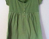 Womens Green baby doll top