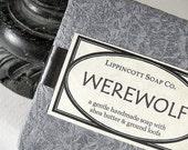 Werewolf Halloween Soap Bar - Handmade Cold Process Soap - Loofa Soap