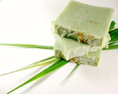 Grass Handmade Soap - Sweet Meadow Cold Process Soap Bar - Phthalate Free