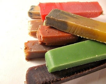 Soap SAMPLES - You Pick Four - Soap Set - Travel Soap - Soap Slices - Soap Gift Set - Soap Favors - Gift for Her and Him