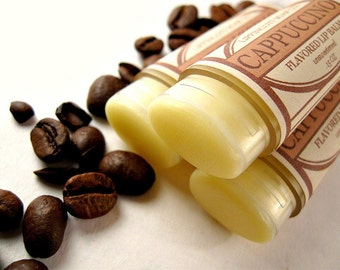 Cappuccino Lip Balm, Coffee Lip Balm, Unsweetened Lip Balm, Coffee and Cream Lip Balm, Phthalate Free Flavor