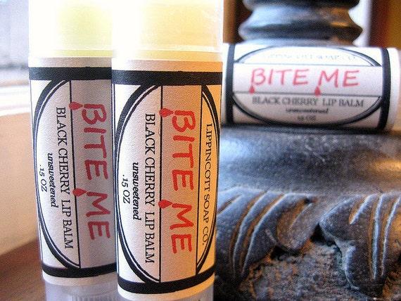 Bite Me Lip Balm - Vampire Lip Balm - Black Cherry