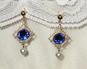 Titanic Jewelry Rose's Blue Josephine Flying Earrings