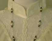 Somewhere in Time Elise's Victorian Styled Glass Pearl Reunited Necklace