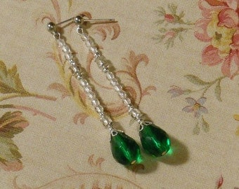 Titanic Jewelry Rose's Silver Plated Jump Earrings