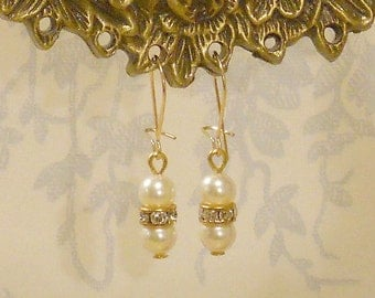 Out of Africa Karen's Swarovski Pearl and Crystal Drop Earrings