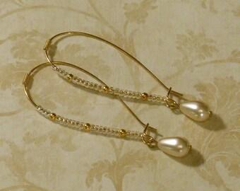 Titanic Jewelry Rose's Faux Pearl Breakfast Earrings