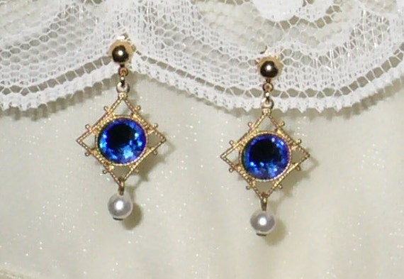 Titanic Jewelry Rose's Blue Josephine Flying Earrings