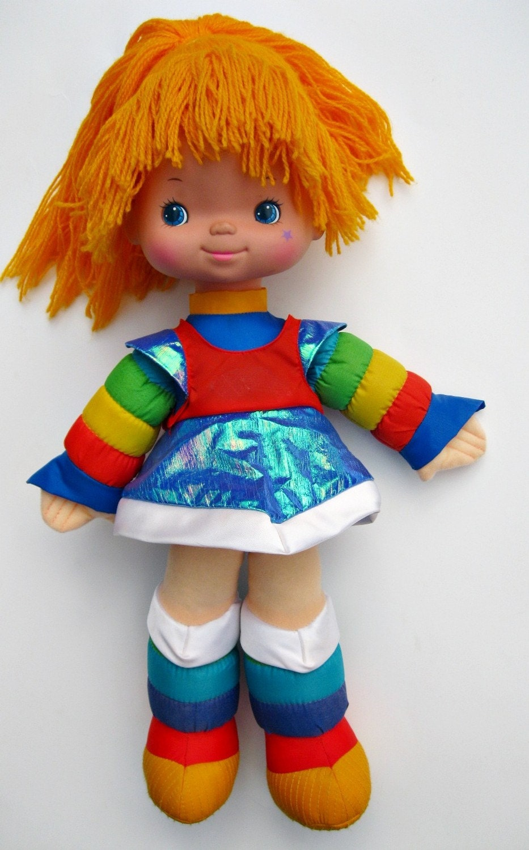 Vintage Rainbow Brite doll 1983 by RachaelChambersArt on Etsy