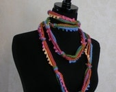 Circus Tent Knot Scarf in Pink, Orange, Blue,  and Green