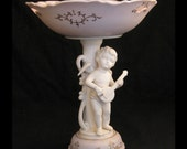 Vintage Compote with Cherub Made in Japan ca. 1950-1960