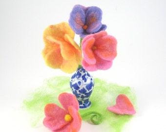 Heart Flower Wool Wet Felting Waldorf Craft Kit