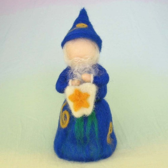 Tooth Wizard Wool Doll Sale Needle Felted