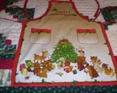Woodland Christmas Apron