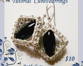 Tutorial - cubes earrings