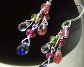 Spring Trellis - Iolite, Spinel, Tourmaline and Peridot earrings
