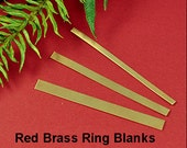 Flat Red Brass Ring Stock Sampler for making your own Brass Ring Bands