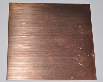 Bare Solid Copper Sheet 18 gauge 6 x 3 inches 1 sheet