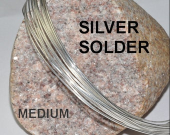 MEDIUM Silver Solder Wire by the foot