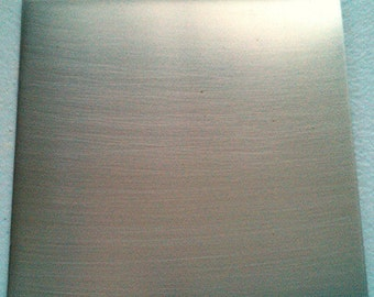 22 g Bare Nickel Silver Sheet 22 gauge 6 x 3 inches