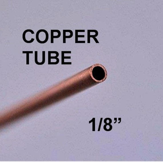 1/8 inch Solid Copper Round Tube Tubing, 3 pcs.