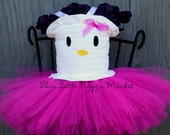 Girls HELLO KITTY 2 pc. Tutu and Corset Top Costume Sizes 0-10Y Halloween Costume, Birthday, Christmas