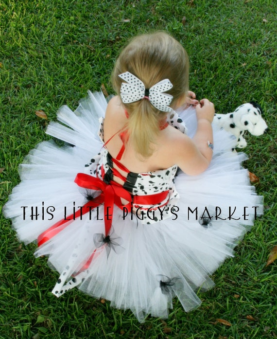 101 Dalmatian Dog Puppy Tutu and Corset Halloween Costume or Christmas Gift 18M 2T 3T 4T 5 6 7 8
