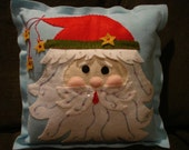 Santa Face Pillow