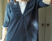 Blue polka-dots tunic