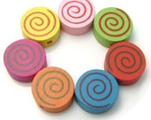 40 PCs of wooden beads No.W003