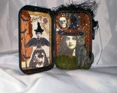 Gothic Altered Tin with Witch  (1)