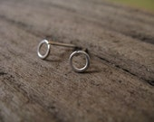 Tiny hoop stud earrings