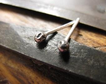 Sterling silver bud stud earrings