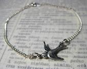 Silver Swallow Bracelet
