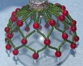 Festive Christmas Beaded Ornament