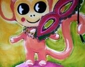 Mardi Gras Zoolery kiddle Chumpy Chimp PRINT